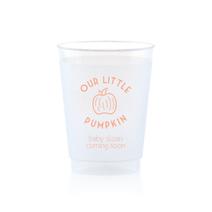ForYourParty's personalized Matte Light Coral Ink 10 oz Frost Flex Cup with Matte Light Coral Ink Cup Ink Colors has a Pumpkin graphic and is good for use in Thanksgiving, Halloween themed parties and can't be beat. Showcase your style in every detail of your party's theme!