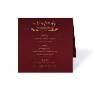 fold over foil wedding menus programs for your party