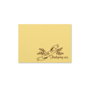 ForYourParty's elegant Poptone Mimosa Tempo Place Card with Matte Chocolate Foil has a Twig Banner graphic and is good for use in Wedding, Floral themed parties and will add that special attention to detail that cannot be overlooked.