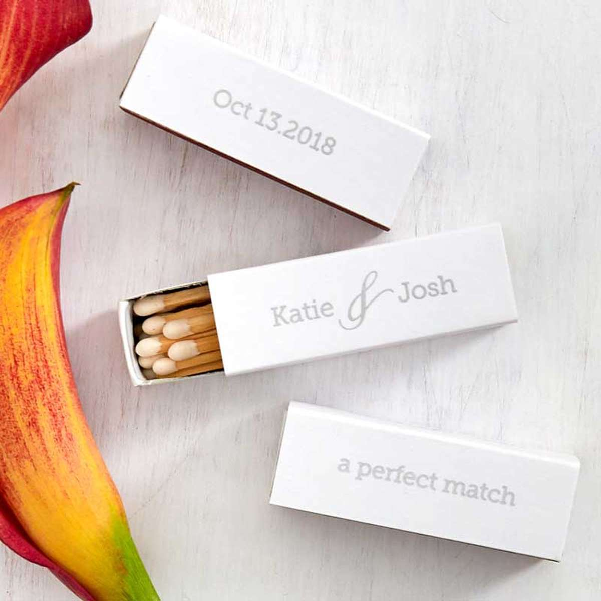 cute shape wedding match
