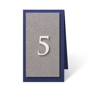ForYourParty's personalized Stardream Navy Euro Table Number with Stardream White Number Paper Color will add that special attention to detail that cannot be overlooked.