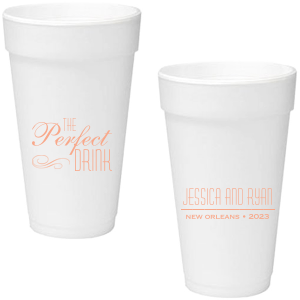 Our custom Matte Kraft/Latte Ink 16 oz Foam Cup with Matte Kraft/Latte Ink Screen Print has a Flourish 5 graphic and can't be beat. Showcase your style in every detail of your party's theme!