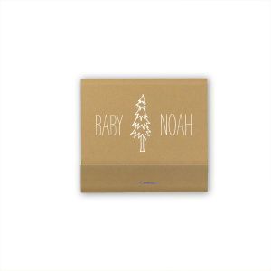 The ever-popular Natural Kraft 30 Strike Matchbook with Matte White Foil has a Pine Tree graphic and a Triangle Pattern graphic and is good for use in Accents, Full Bleed, Trendy themed parties and will look fabulous with your unique touch. Your guests will agree!