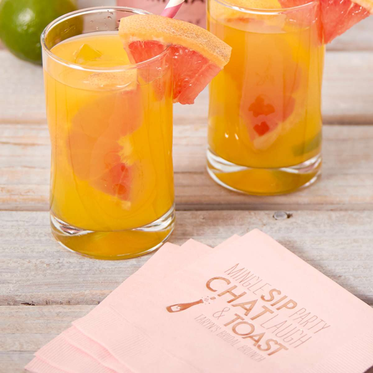 Sparkling Grapefruit Sangria with moscato