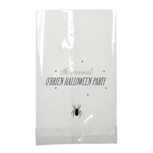 Custom Black Party Bag with Matte Key Lime Foil has a Spider graphic and is good for use in Halloween themed parties and will look fabulous with your unique touch. Your guests will agree!