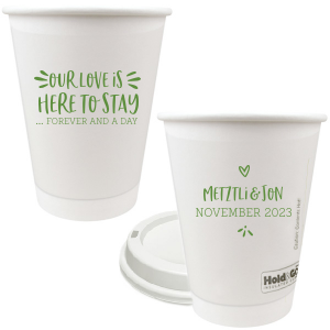 ForYourParty's personalized 12 oz Paper Coffee Cups with Lid with Matte Moss Green Ink couldn't be more perfect. It's time to show off your impeccable taste.