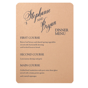 Modern Calligraphy Couple Menu