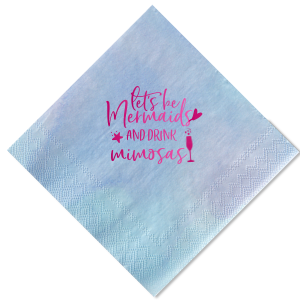 Personalized Turquoise Cocktail Napkin with Shiny Fuchsia Foil has a Single flute graphic and is good for use in Drinks, Holiday, Wedding themed parties and couldn't be more perfect. It's time to show off your impeccable taste.