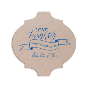 Love Laughter Banner Coaster