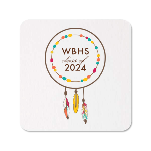 Our custom White Photo/Full Color Square Coaster with Matte Chocolate Ink Digital Print Colors will look fabulous with your unique touch. Your guests will agree!