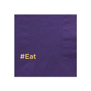 Our personalized Amethyst Cocktail Napkin with Shiny 18 Kt Gold Foil are a must-have for your next event—whatever the celebration!