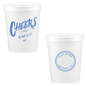 The ever-popular White 16 oz Stadium Cup with Matte Periwinkle Ink Cup Ink Colors has a Circle Frame graphic and is good for use in Frames themed parties and can be customized to complement every last detail of your party.