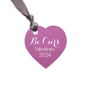 Personalized Stardream Plum Heart Gift Tag with Matte White Foil will make your guests swoon. Personalize your party's theme today.