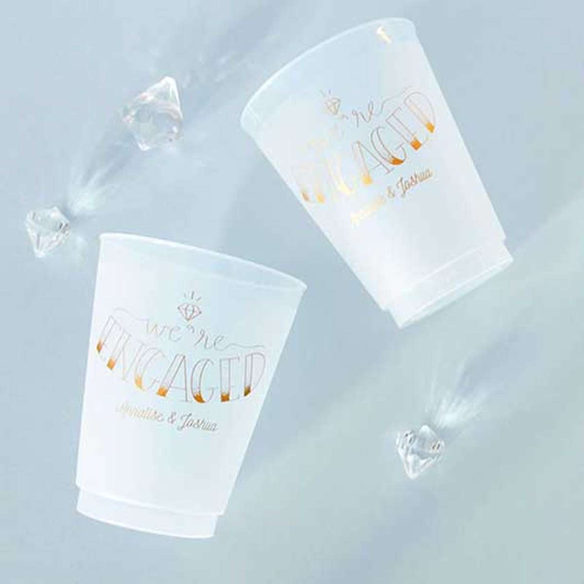 custom 16 oz. frost flex party cup