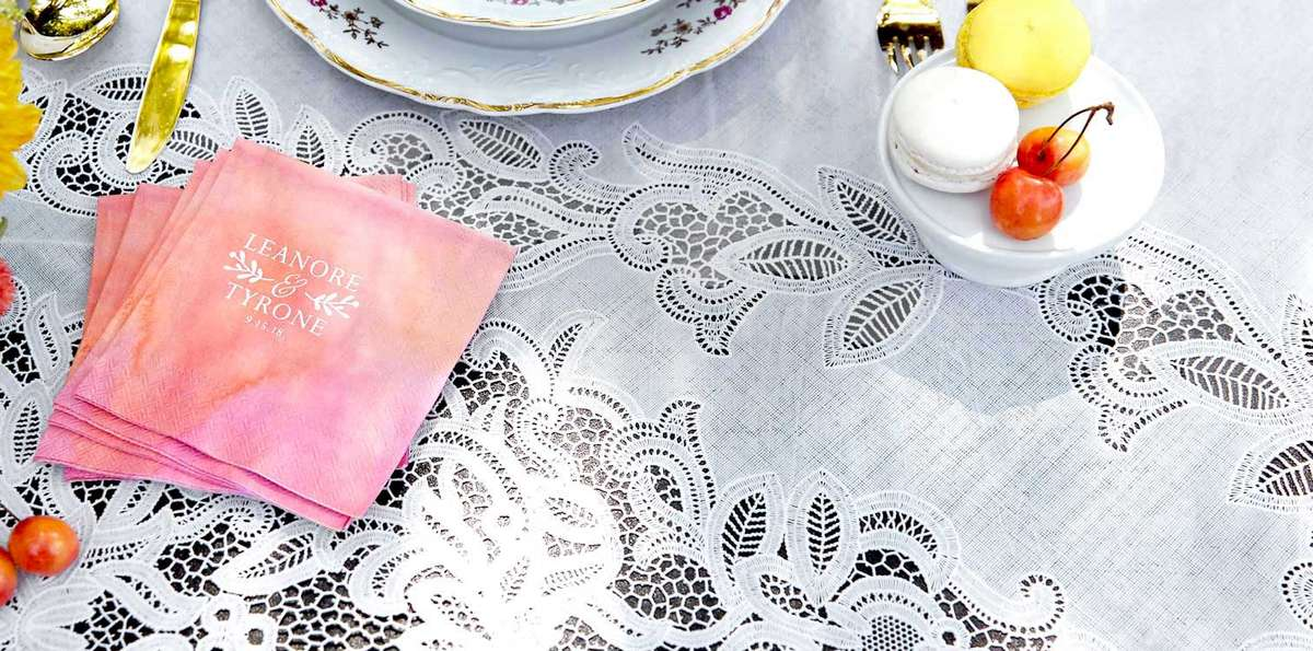 Shop beautiful pattern napkins for your wedding, shower or event
