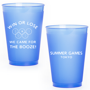 The ever-popular Blue 12 oz Frost Flex Color Cup with Matte White Ink Cup Ink Colors will make your guests swoon. Personalize your party's theme today.