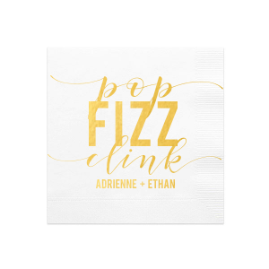 Custom White Cocktail Napkins with Bleed with Shiny 18 Kt Gold Foil couldn't be more perfect. It's time to show off your impeccable taste.