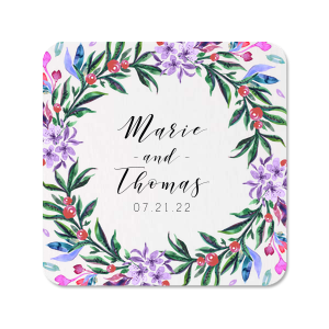 ForYourParty's elegant White Photo/Full Color Square Coaster with Matte Black Ink Digital Print Colors can't be beat. Showcase your style in every detail of your party's theme!