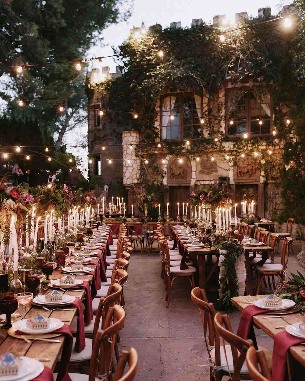 Harry Potter ultra themed wedding reception