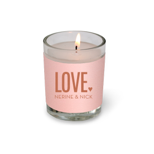 ForYourParty's chic Poptone Ballet Pink Votive Candle with Satin Copper Penny Foil Color can't be beat. Showcase your style in every detail of your party's theme!