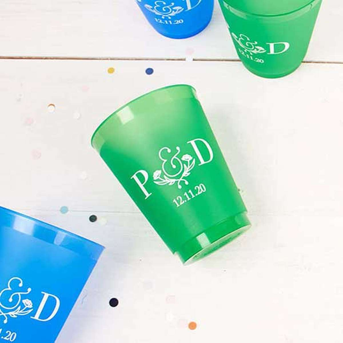 custom 16 oz. color frost flex party cup