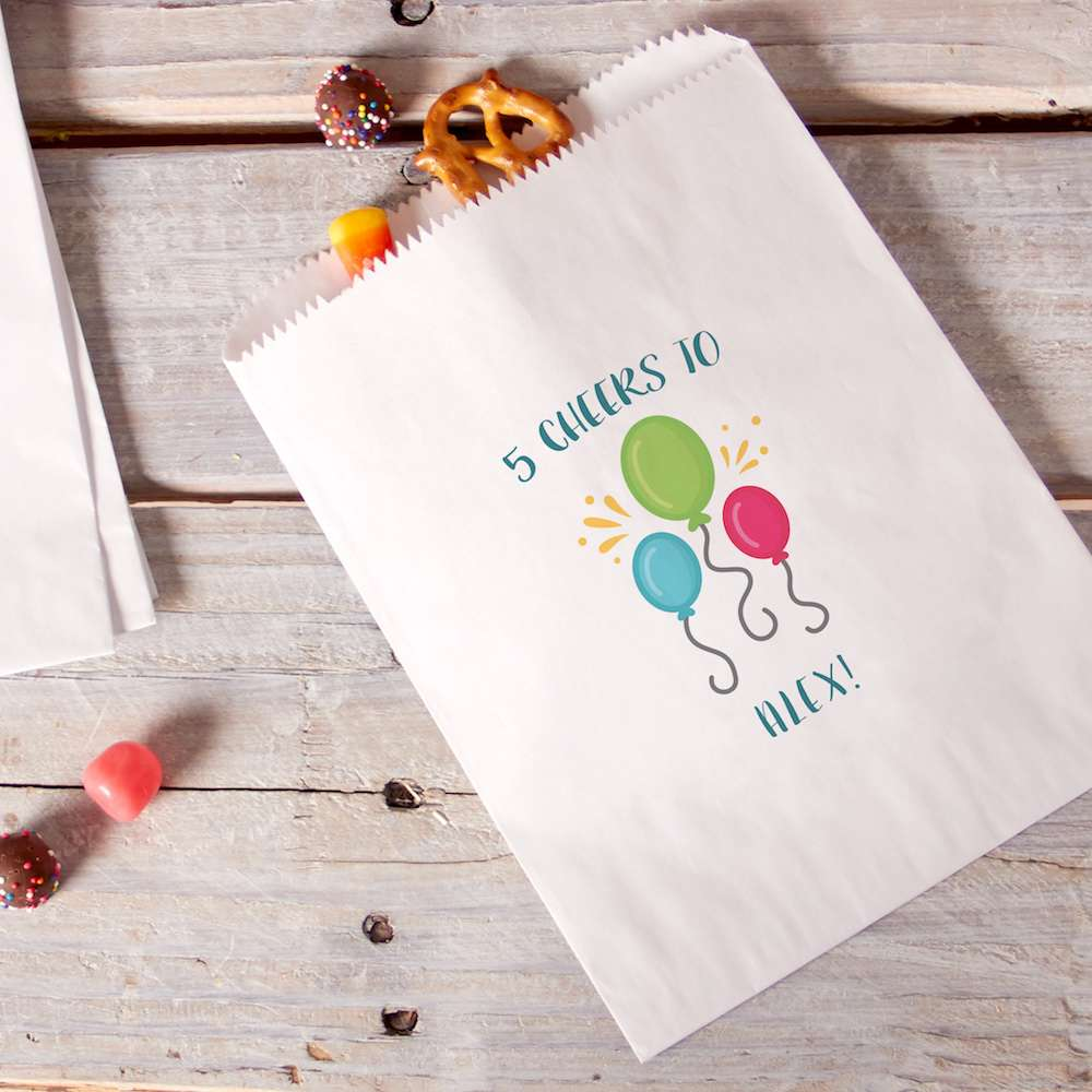 custom printed party bags