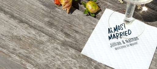 shop personalized napkins for your wedding, shower or event