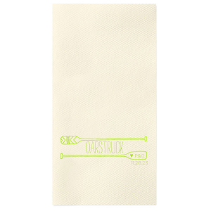 The ever-popular Hunter Green Cocktail Napkin with Shiny Green Tea Foil has a Oar Frame graphic and is good for use in Adventure, Outdoor Wedding themed parties and will add that special attention to detail that cannot be overlooked.