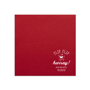 ForYourParty's chic White Linen Like Grande Napkin with Shiny Convertible Red Foil has a Grill graphic and is good for use in Food, Home themed parties and can't be beat. Showcase your style in every detail of your party's theme!