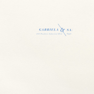 Our custom Lettra Pearl White 110lb Invitation Envelope with Satin French Blue Foil has a Accent Ampersand graphic and is good for use in Couple, Wedding themed parties and are a must-have for your next event—whatever the celebration!