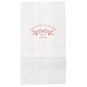 Growing Together Floral Wedding Bag