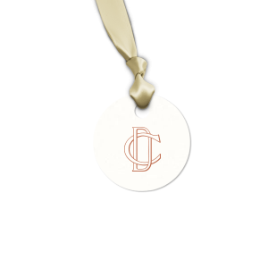 Our personalized Strathmore White Square Gift Tag with Satin Copper Penny Foil will give your party the personalized touch every host desires.