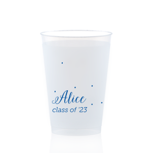 The ever-popular Matte Royal Blue Ink 12 oz Frosted Plastic Cup with Matte Royal Blue Ink Cup Ink Colors will look fabulous with your unique touch. Your guests will agree!