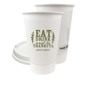 ForYourParty's chic Matte Army Green Ink 8 oz Paper Coffee Cup with Lid with Matte Army Green Ink Cup Ink Colors can't be beat. Showcase your style in every detail of your party's theme!