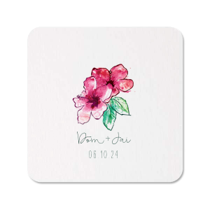 Hibiscus Photo/Full Color Coaster