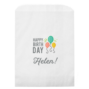 Our personalized White Photo/Full Color Party Bag with Matte Slate Gray Ink Digital Print Colors can't be beat. Showcase your style in every detail of your party's theme!