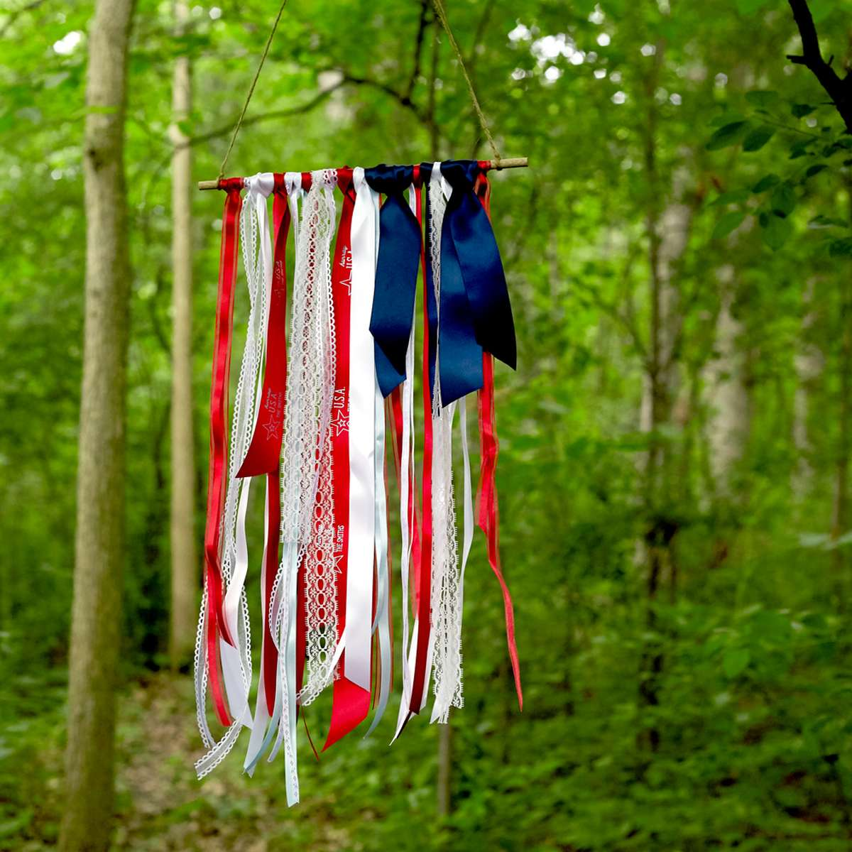 4th of july ribbon flag DIY decorations