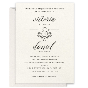 ForYourParty's elegant Lettra Pearl White 110lb Invitation with Coral Ink Letterpress Inks has a Accent Ampersand 2 graphic and is good for use in Couple, Romantic, Wedding themed parties and can't be beat. Showcase your style in every detail of your party's theme!
