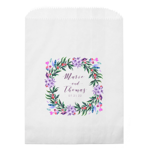 The ever-popular White Photo/Full Color Party Bag with Matte Eggplant Ink Digital Print Colors can be personalized to match your party's exact theme and tempo.