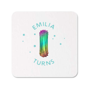 Rainbow Balloon Photo/Full Color Coaster