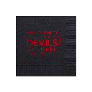 Our beautiful custom Black Cocktail Napkin with Shiny Convertible Red Foil has a Scroll Accent graphic and is good for use in Accents themed parties and will look fabulous with your unique touch. Your guests will agree!