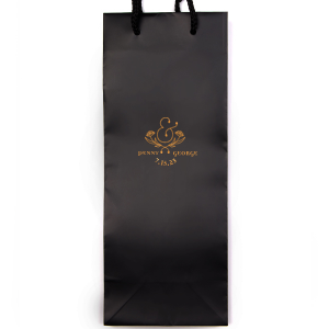 Our custom White Gloss Goodie Bag with Matte White Foil has a Floral Accent Ampersand graphic and is good for use in Couple and Wedding themed parties and are a must-have for your next event—whatever the celebration!