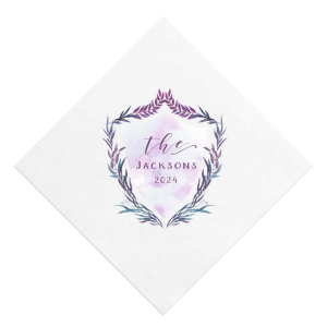 Our personalized White Borderless Photo/Full Color Cocktail Napkin with Matte Eggplant Ink Digital Print Colors will look fabulous with your unique touch. Your guests will agree!
