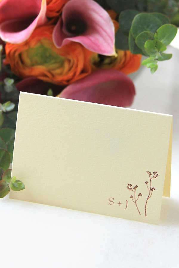 personalized foil stamped note card