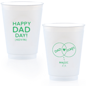 ForYourParty's chic Matte Spring Green Ink 16 oz Frost Flex Cup with Matte Spring Green Ink Cup Ink Colors has a Venn Diagram Frame graphic and is good for use in Accents, Wedding, Hearts themed parties and will give your party the personalized touch every host desires.