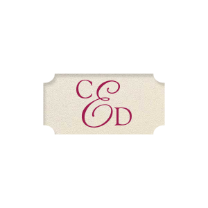 Elegant Monogram Label