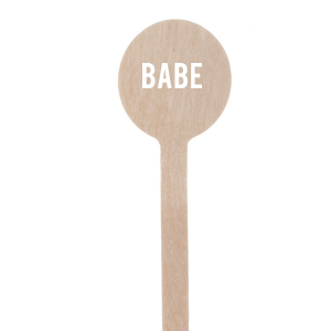 Our personalized Matte White Round Stir Stick with Matte White Foil can't be beat. Showcase your style in every detail of your party's theme!