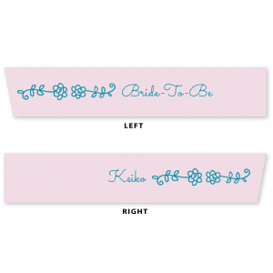 "ForYourParty's personalized Ballet Pink 5/8"" Satin Ribbon with Satin Teal / Peacock Foil Color has a Flower Vine graphic and a Flower Vine graphic and is good for use in Floral themed parties and are a must-have for your next event—whatever the celebration!"
