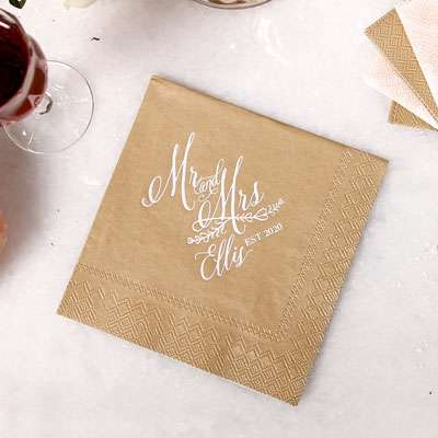 Shimmer Cocktail Napkins