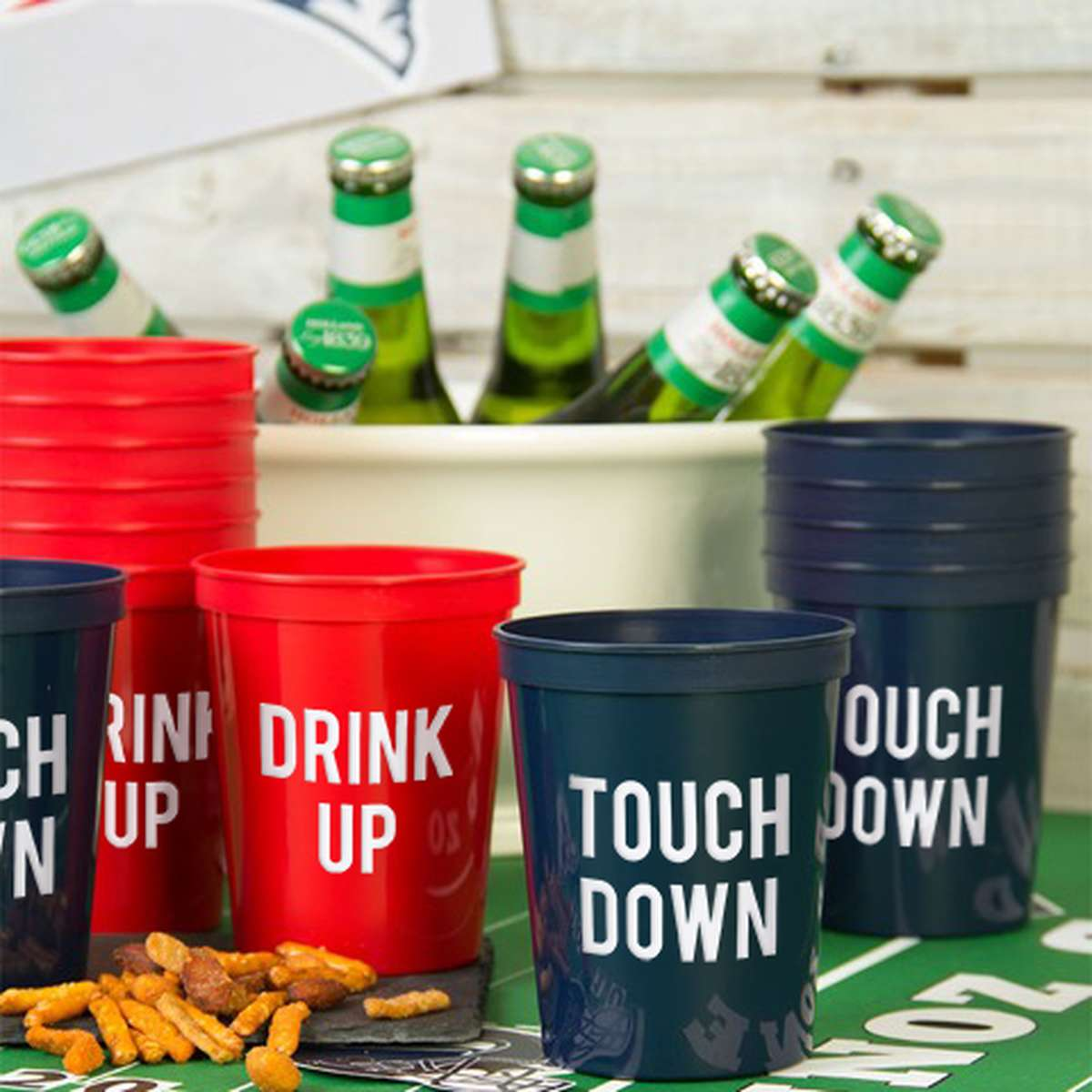 Personalized Cups for your Super Bowl Football Party